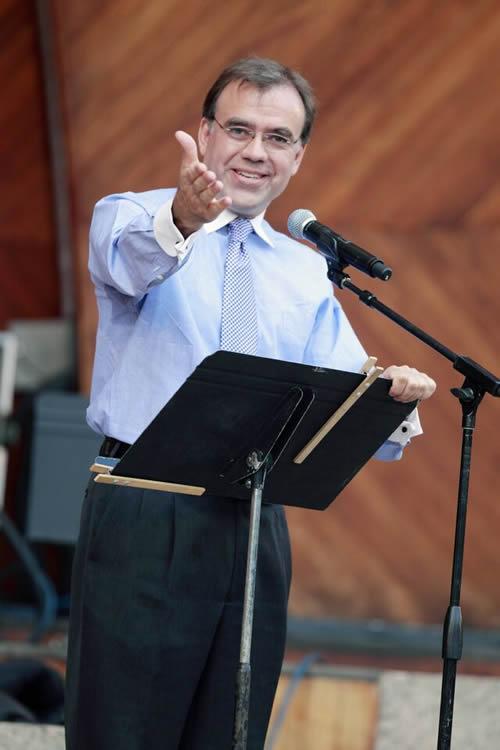 Christoper Wilkins gesturing