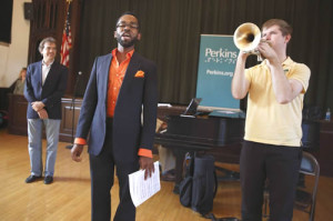 Landmarks Orchestra Event at Perkins School for the Blind