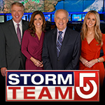 The meteorologists from Storm Team 5 standing together